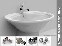 Water mixer and sink